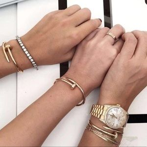 New Diamond Simple Fashionable Nail Screw Bracelet